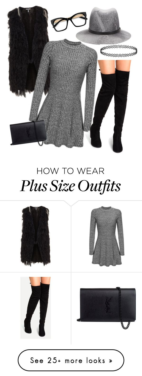 """Oh hey grey"" by oneluvlyn on Polyvore featuring rag & bone and Yves Saint Laurent"
