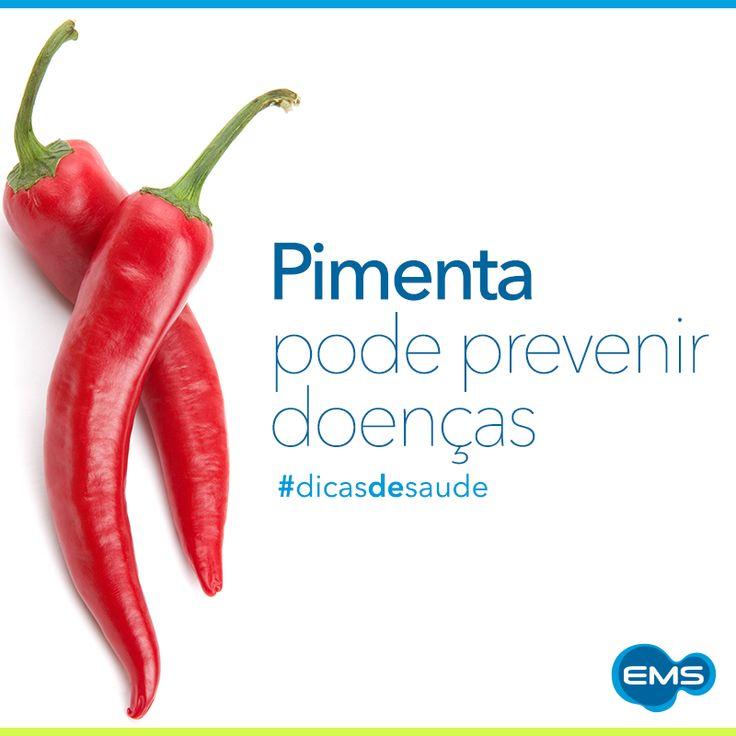 Colocar um pouco de pimenta em sua refeição pode ajudar na saúde do coração, dentes, estômago, fígado e até na prevenção do câncer. Mas cuidado! Quem sofre de problemas gástricos não deve exagerar no consumo. #dicasdesaúde