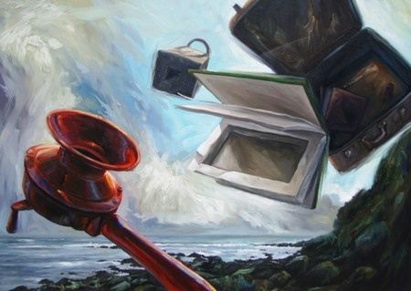 Ben Sheers  Spill - 2012  Oil on linen  87 x 122 cm