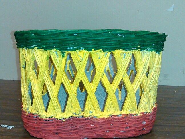 Colors represent the Rastafarian symbol.