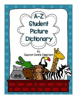 """Are you looking for personal, picture dictionaries for your students? These personal dictionaries can be used in MANY ways! I don't know how many times I hear """"How do you spell... and my response is, """"Is that word in your dictionary?"""" Students can keep these in their"""