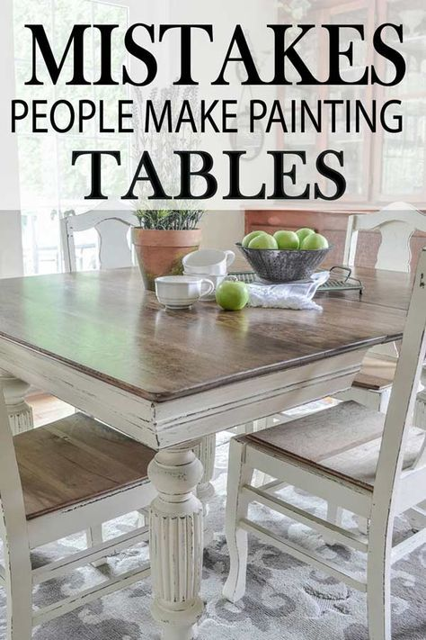 7 common mistakes made painting kitchen tables kitchen tables rh pinterest com