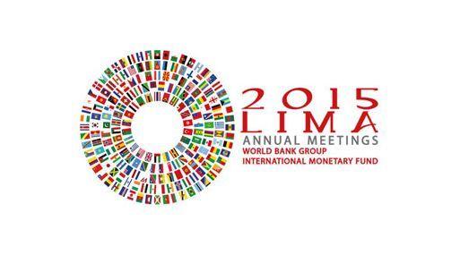 """BCR difunde logo de la reunión """"Lima 2015"""" del Banco Mundial y del FMI #Gestion"""