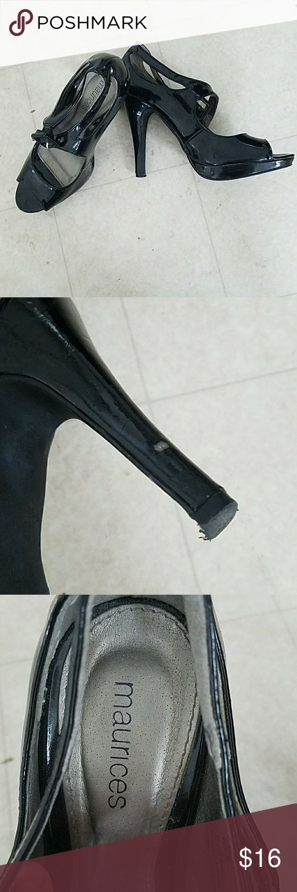 Black heels Black fun heels. There are a few scratches but very minor Maurices Shoes Heels