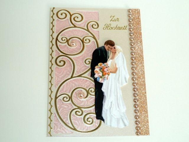 Karte zur Hochzeit Nr. 422 von *M&M Bastelparadies* auf DaWanda.com