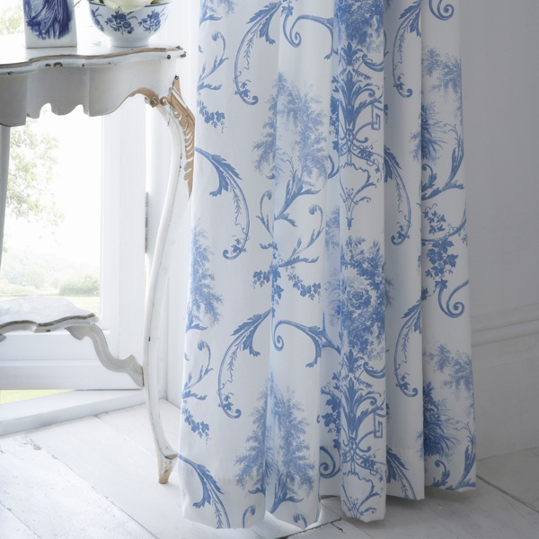 Image forDorma Toile Blue Collection Curtains - love this fabric