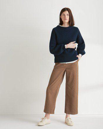 Women's Balloon Sleeve Wool Sweater