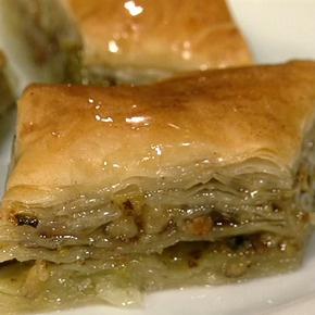 Michael Symon's mother's baklava...I saw this on the Chew today and it was explained really well.