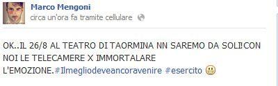 Il concerto di Marco Mengoni in DVD: si registra a Taormina