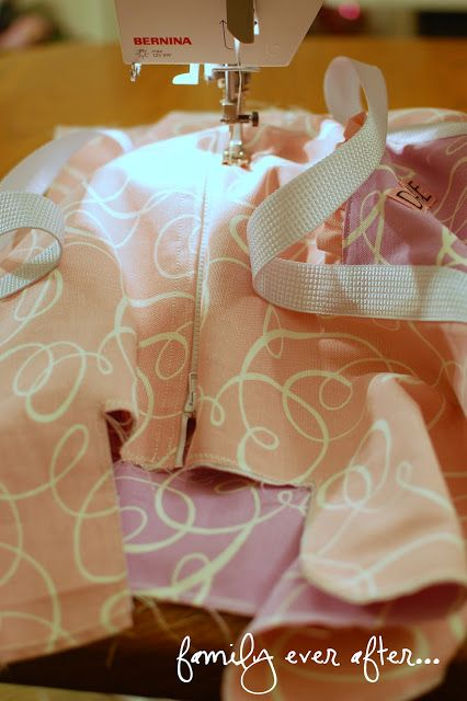 Family Ever After....: Dance Duffle Ruffle Bag + Tutorial