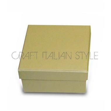 Stamperia KC30A - Scatola cartone quadrata bassa 9x9x5 cm Avorio - Decorabilia (Decorabilia-Cartone - Colorato)