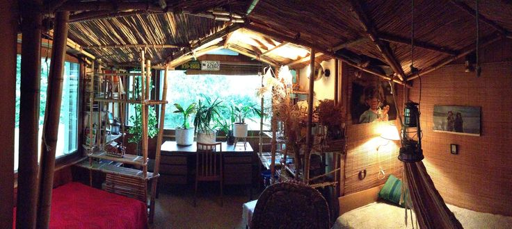 Eintritt in meine Bambus-Traum-Hütte