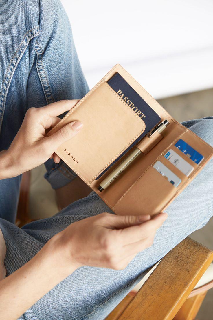 Natural Vachetta Leather Passport Case