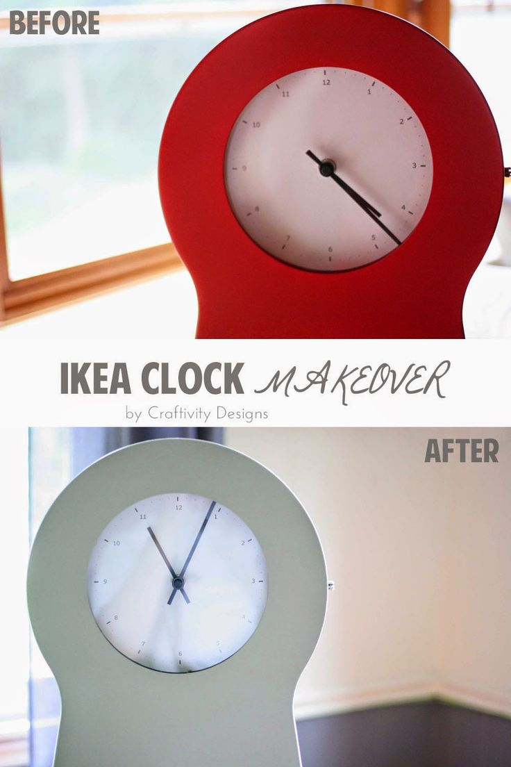 The 25 best ikea clock ideas on pinterest vanities teen a simple free ikea clock makeover gumiabroncs Gallery