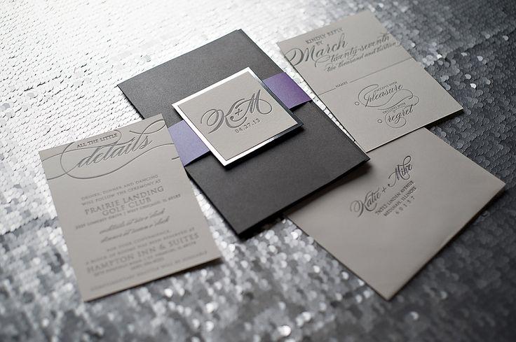 ... wedding invitations, letterpress wedding invitations, chicago wedding