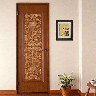 DIY Stenciled Door