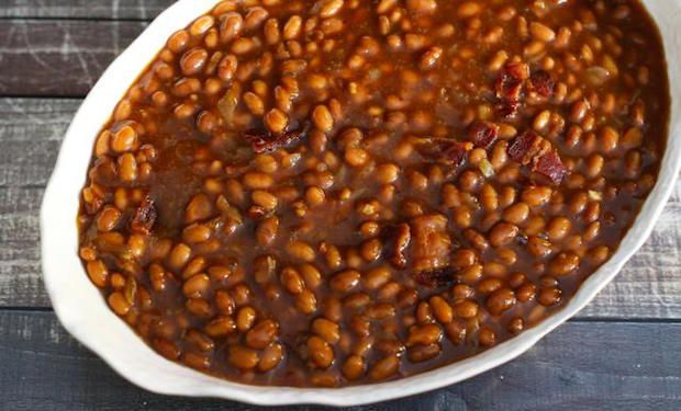 Crock Pot Baked Beans with Bacon