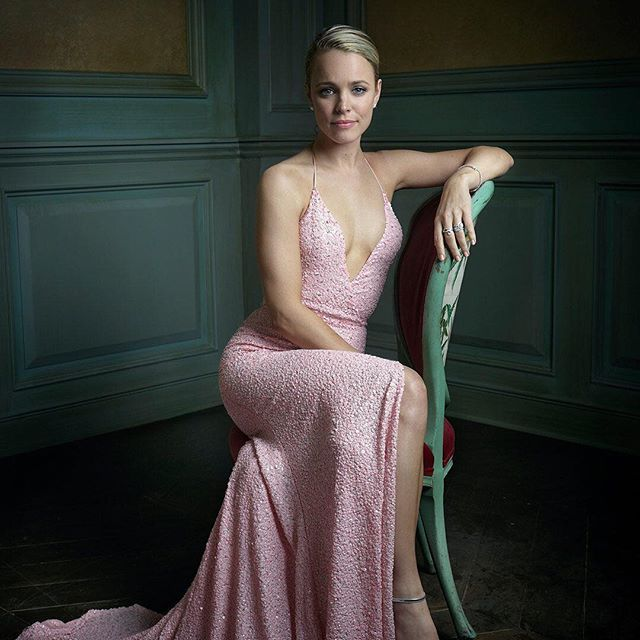 Rachel McAdams sitting pretty in pink for @markseliger at the