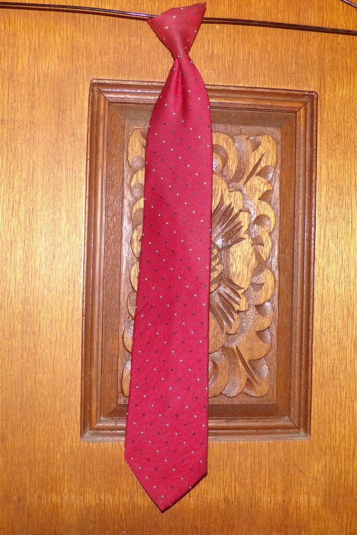 Men's Cavalier Clip on Tie, Vintage clip on tie, Red clip on tie, Clip on tie by Morethebuckles on Etsy