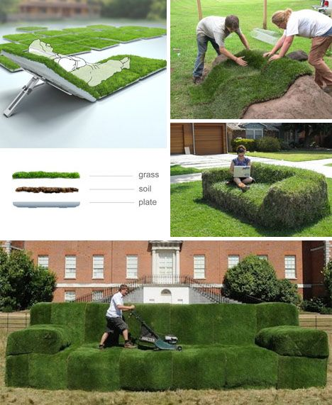 grass sofa - wow!