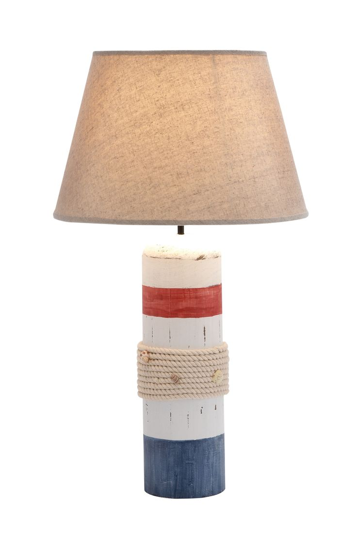 464 best lamps and lanterns images on pinterest beach house add a touch of nautical flair to your entryway console or side table with this buoy shaped table lamp featuring rope and seashell detailing geotapseo Images
