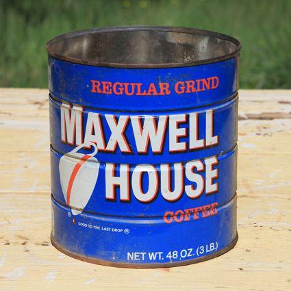 Maxwell House Coffee Tin