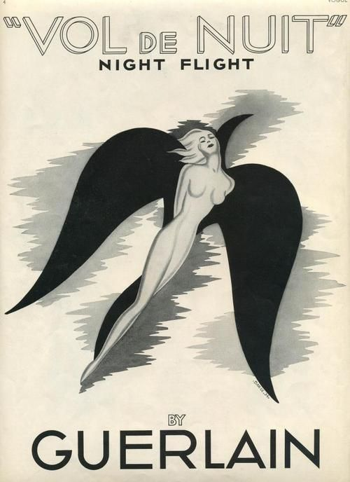 In 1933, Jacques Guerlain created 'Vol de Nuit' as a tribute to his friend St. Exupéry, the poet and aviator.