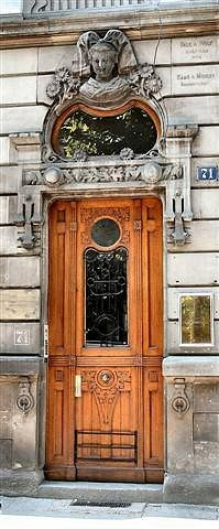 European entrance! Only imagine how many have past through this door over many decades!