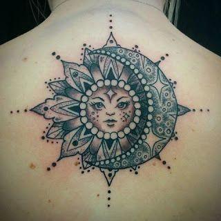 Tatuajes De Sol Y Luna Para Mujeres Tattoo Pinterest