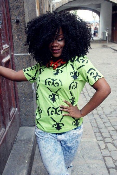 Camisa Verde limão Sankofa - Maria Chantal
