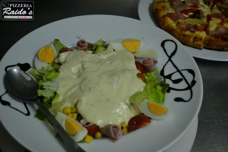 Chef salad & pizza !!!!!!! #Raido's