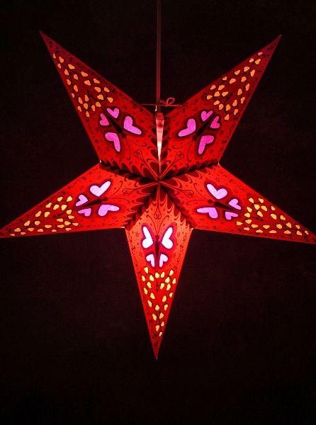 Dark Star Red Butterfly Lanterns