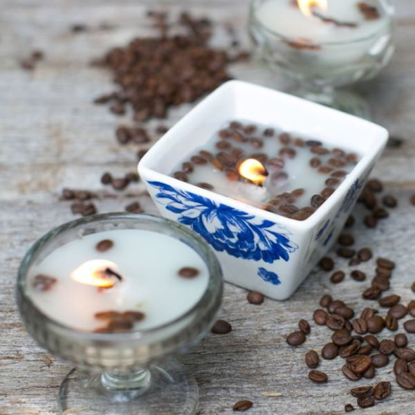 Coffee DIY Candles   HelloNatural.co