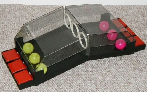 Gnip Gnop!  I loved this game! it took me about 30 years to figure out it was ping pong spelled backwards!