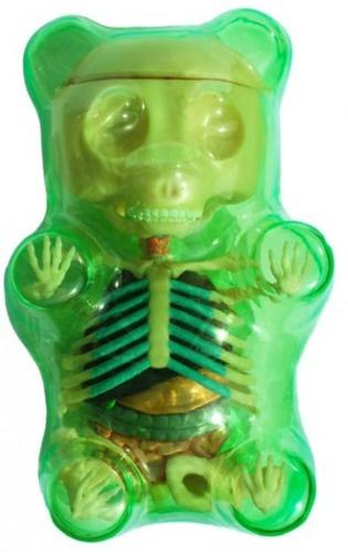 Green Gummi Bear Anatomy Puzzle Toy by Jason Freeny