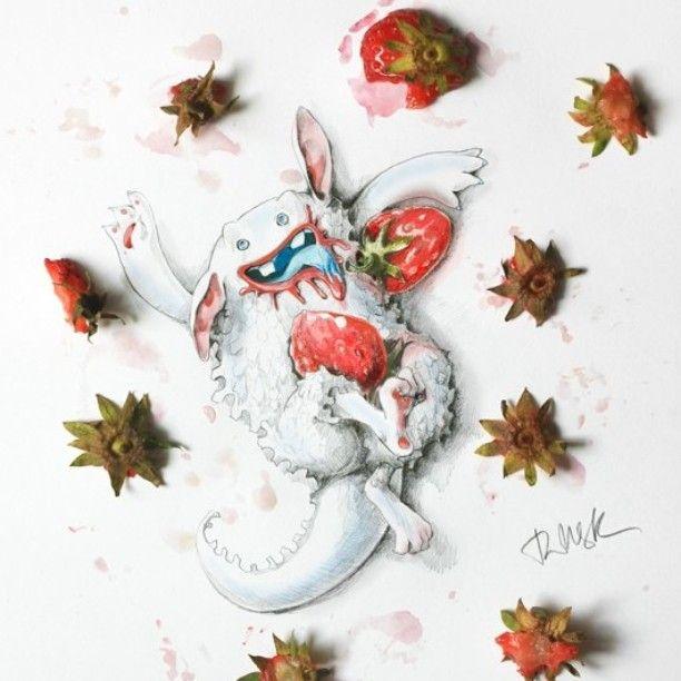 Обожратус! Продолжая серию монстров... Freedom!! Diets-free monster #2 #art #monster #creative #strawberry #hunger #diet #drawing #picture #happy #tasty #juicy #sketch #doodles #illustration #fantasy #графика #карандаш #рисунок #арт #иллюстрация #монстр #диета #мечты #topcreator #artfido #artsane #shoutout