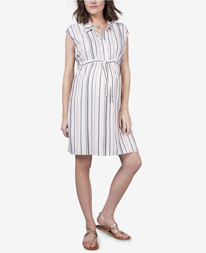0933d648a9790 Seraphine Maternity Striped Shirtdress & Reviews - Maternity - Women -  Macy's