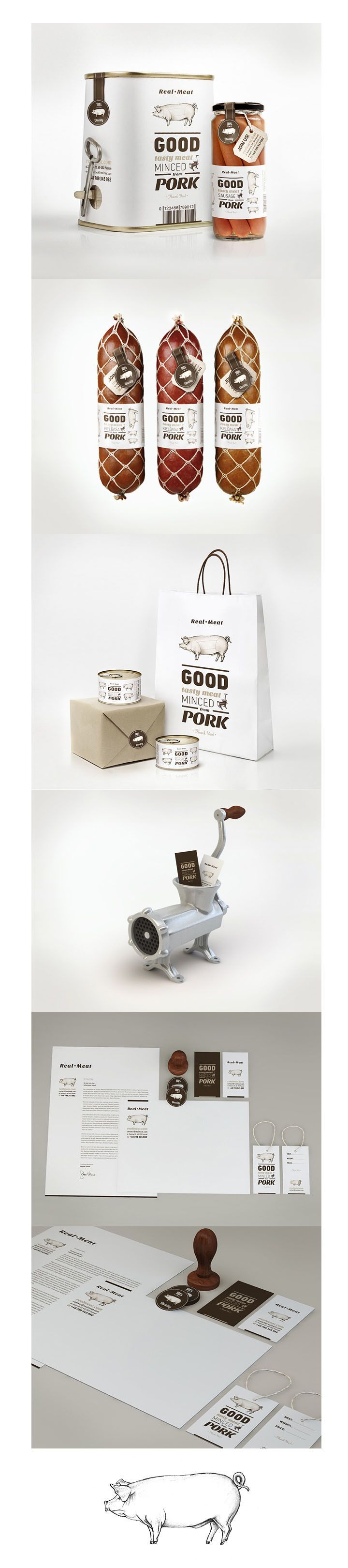 Real Meat #packaging #branding #design PD