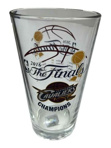 Cleveland Cavaliers 2016 NBA Champions Game Scores Clear Pint Glass (16oz)
