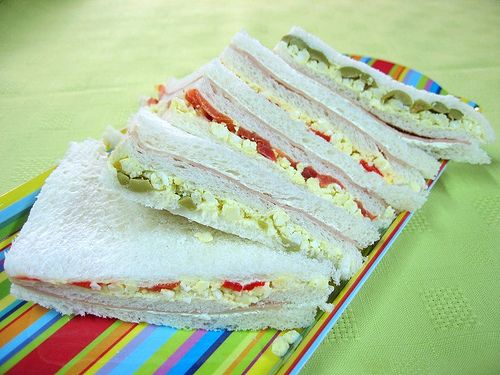 Sandwiches De Miga, the best party food of Argentina. I wish I could find bread this thin in the US!