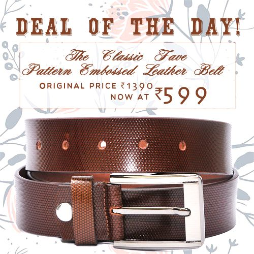 #Deal of the day  The classic fave pattern embossed  #LeatherBelts #genuineleatherbeltsformen