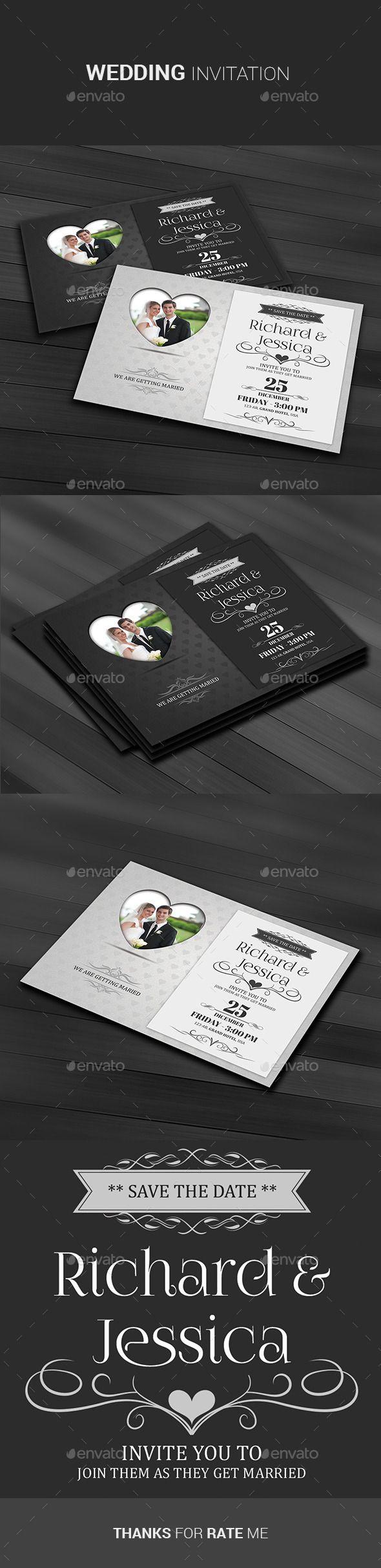Wedding Invitation Template- Cards & Invites Print Templates Instant Download http://graphicriver.net/item/wedding-invitation/11095277?ref=themedevisers
