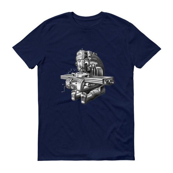 Cincinnati Vertical Milling Machine Boris Artzybasheff Machinalia Short sleeve t-shirt – Machinist Life