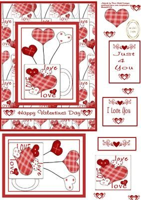 love mug on Craftsuprint designed by Heather Howes - fun valentines card front and layers - Now available for download!