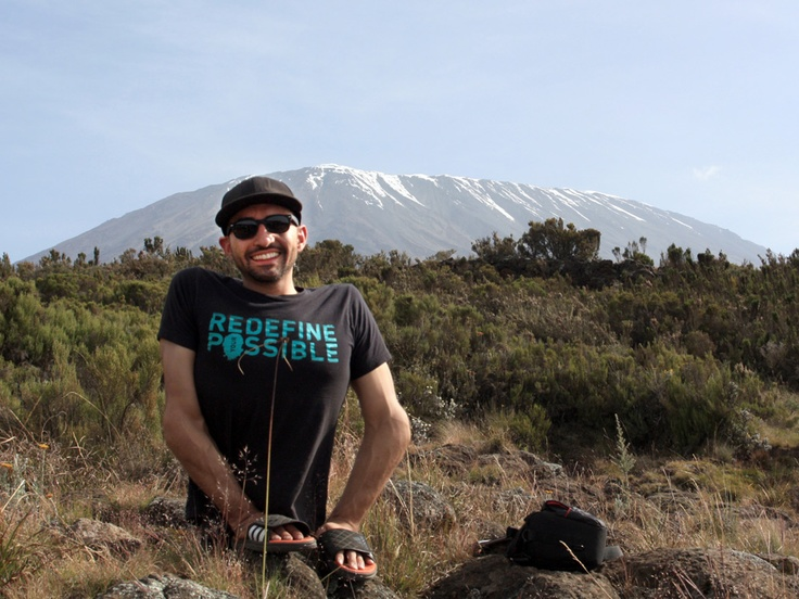 Spencer West, climbed Mount Kilimanjaro, mostly on his hands!