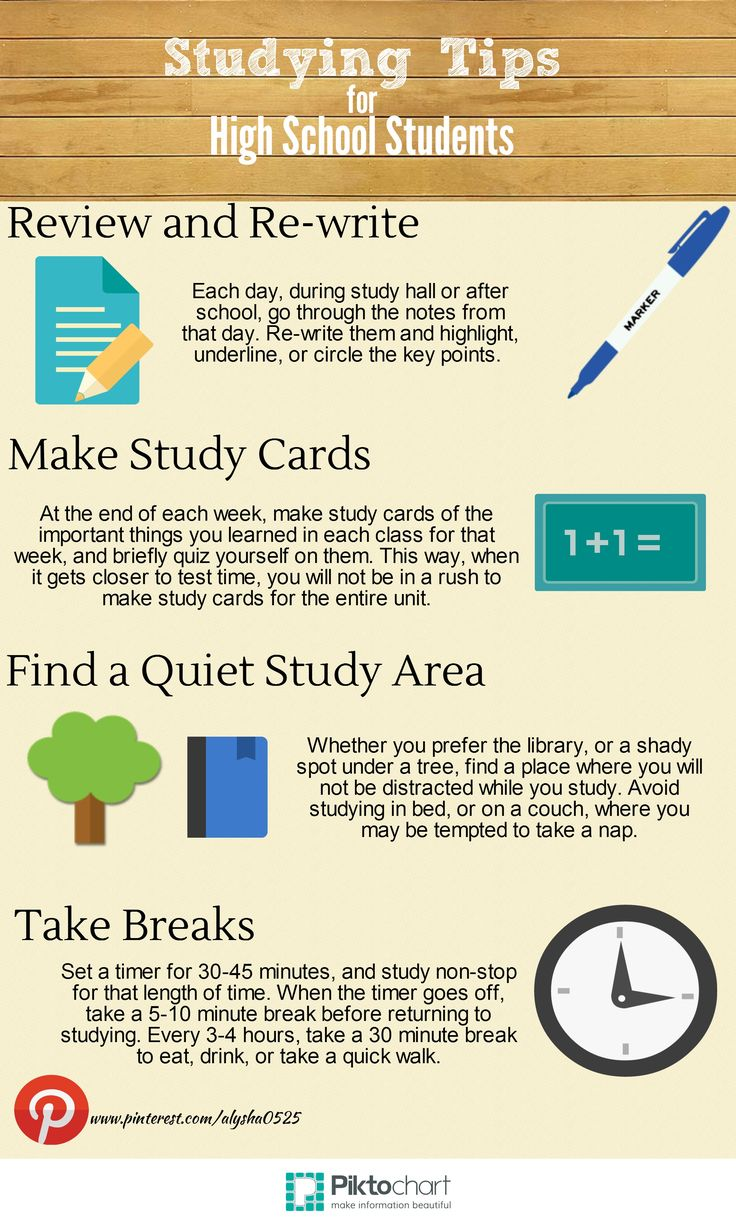 How to study effectively in high school