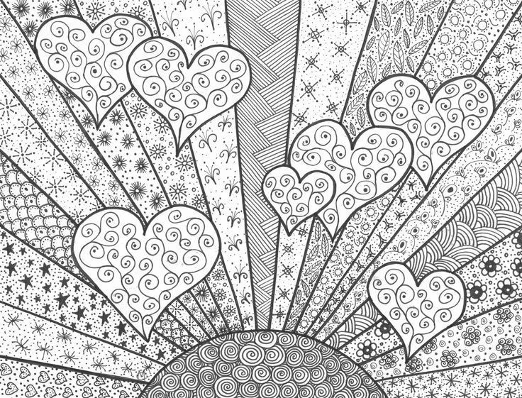 Sunny Hearts - Original Artwork by Cat Magness