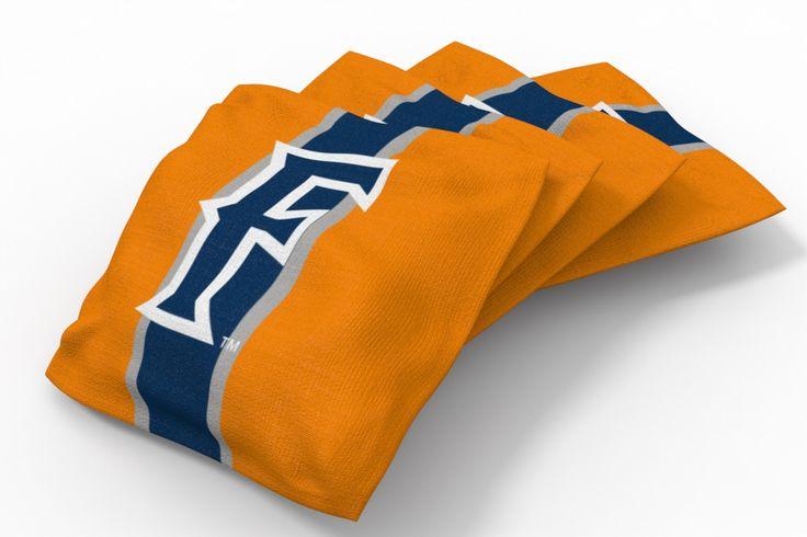 California State Fullerton Titans Stripe Bean Bags-4pk (B)