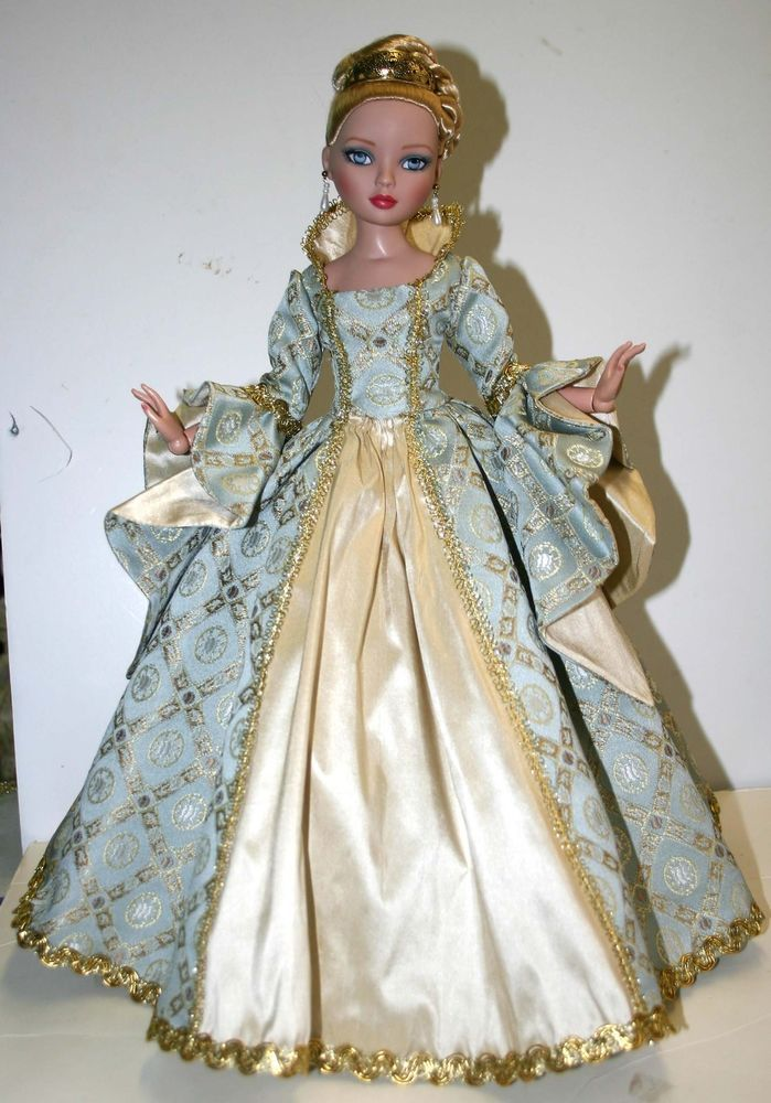 """Enchanted Court Gown for 16"""" Ellowyne Wilde Dolls Tonner"""