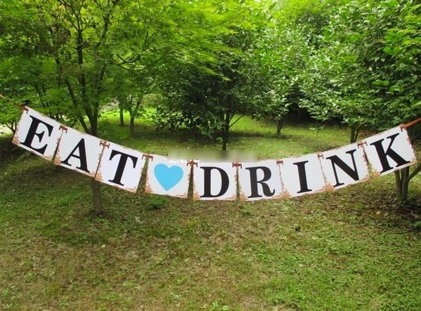 Eat Drink - Rustic Country Banner Bunting - 1.8m